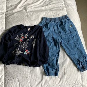 Long sleeve and jeans set